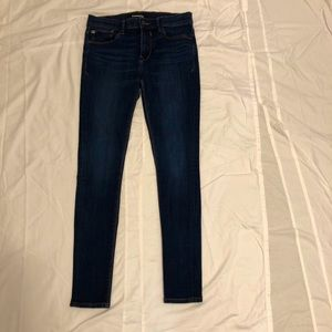 Express Dark Wash Leggings Jeans Mid Rise 6R